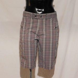 Bermuda Shorts Gray Plaid
